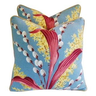Tropical Floral Pillows - a Pair