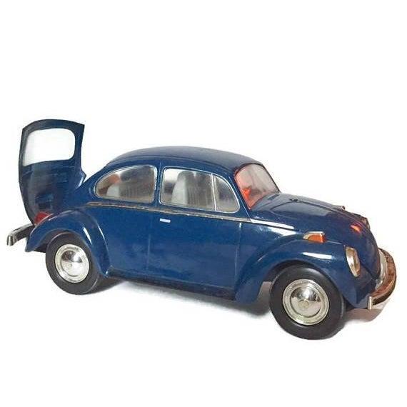 Vintage Volkswagen Beetle Decanter Jim Beam Collectible Metal VW Bug - Image 3 of 10