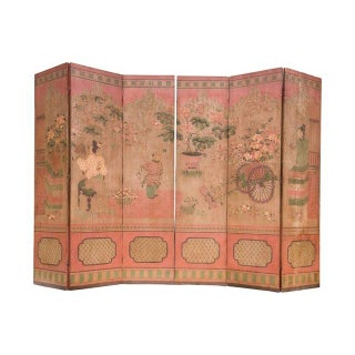 Monumental Chinoiserie Folding Screens - A Pair