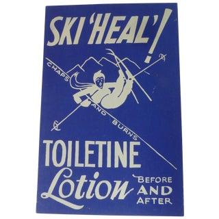 Vintage 1940s Advertising Ski Bunny Poster