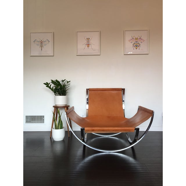 Charles Stendig Leather Lounge Chairs - A Pair - Image 6 of 8