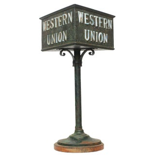 Rustic Western Union Countertop Lamp