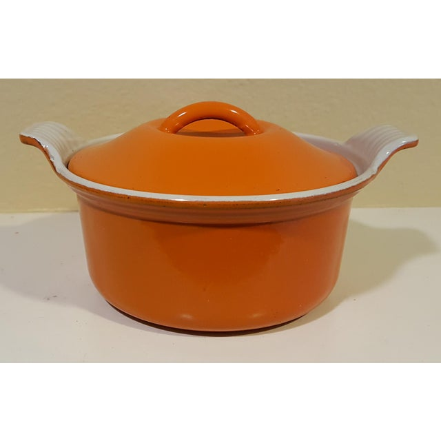 vintage le creuset 14 mini cocotte small covered casserole dish chairish. Black Bedroom Furniture Sets. Home Design Ideas