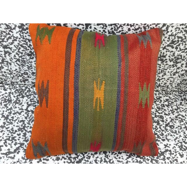 Turkish Kilim Pillow Cover - Image 4 of 5