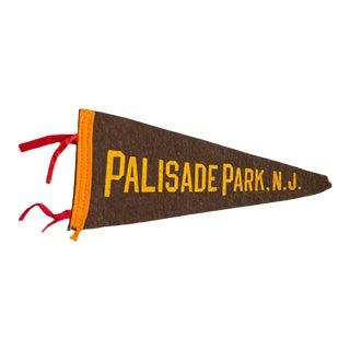1940s Palisade Park NJ Felt Flag