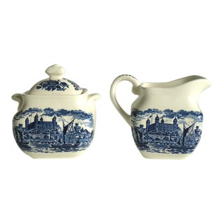 Wedgwood Pitcher & Sugar Bowl
