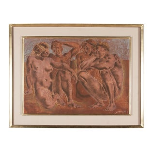 Lithograph, Neoclassical Scene, French 1950