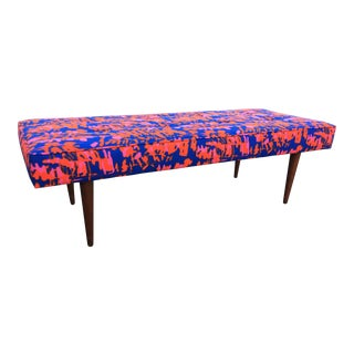 Milo Baughman for Thayer Coggin Bench With Deadstock Reupholstery