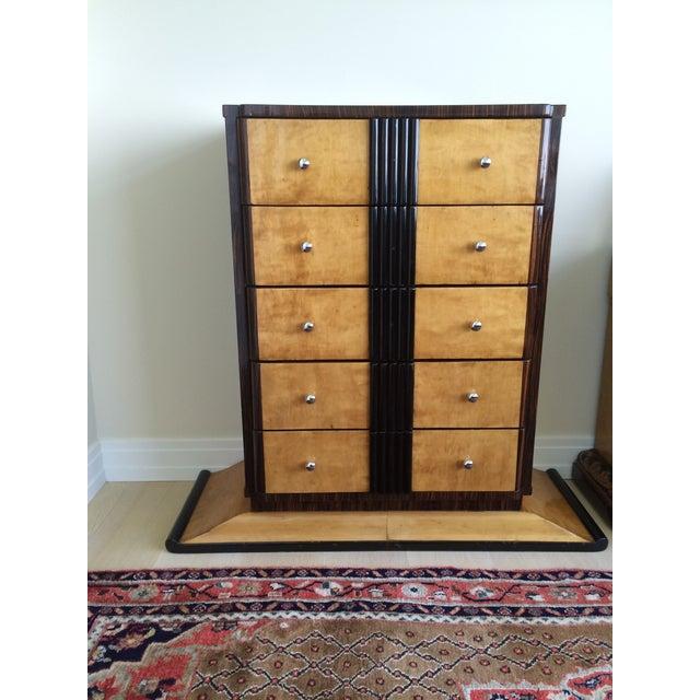1920s Art Deco Zebra Wood Dresser - Image 2 of 4
