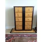 Image of 1920s Art Deco Zebra Wood Dresser