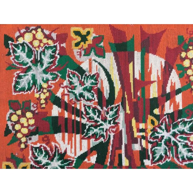 Colorful Jungle Inspired Needlepoint - Image 4 of 6