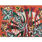 Image of Colorful Jungle Inspired Needlepoint