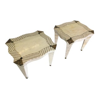 Merle Edelman Tessellated Side Tables - Pair