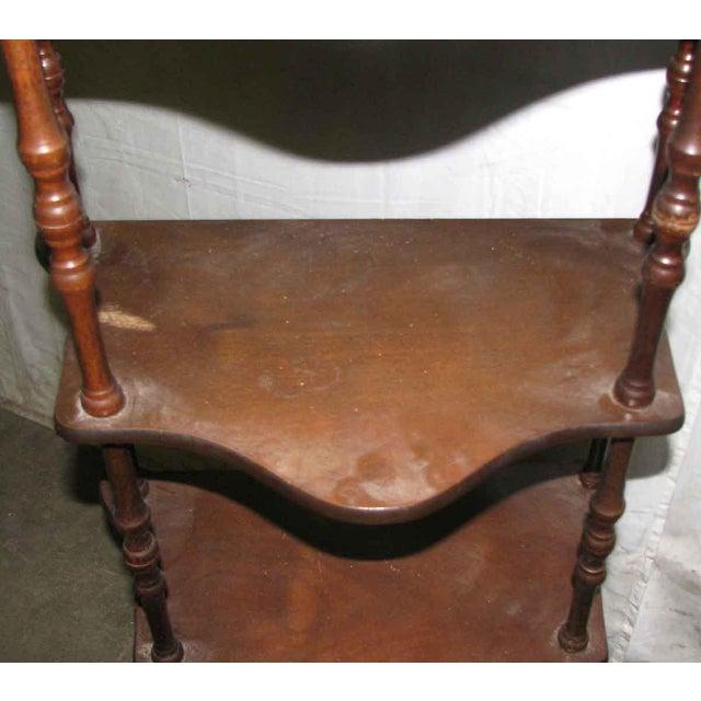 Dark Wooden 5 Tier Shelf - Image 4 of 10