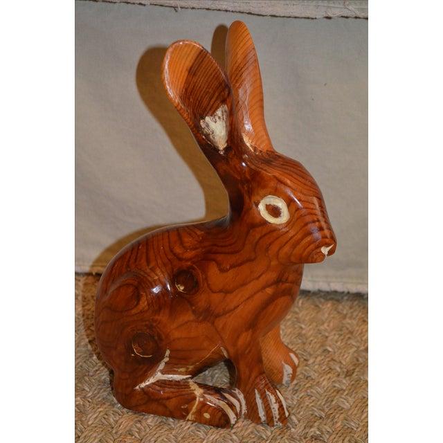 Image of Sarreid Vintage Hand Carved Rabbit