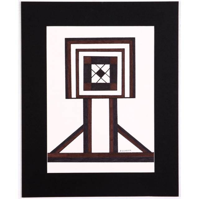 Geometric Inlay Drawing - Image 1 of 4