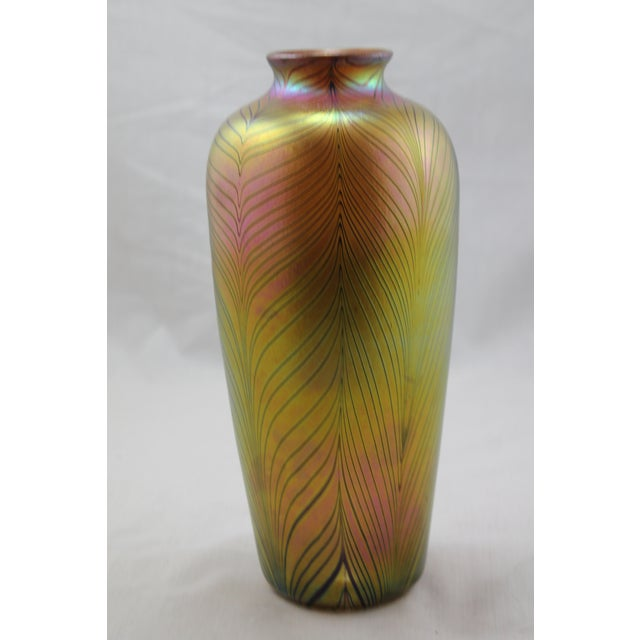 Contemporary Steuben Style Gold Vase - Image 2 of 11
