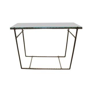 Modern Handmade Steel & Glass Console