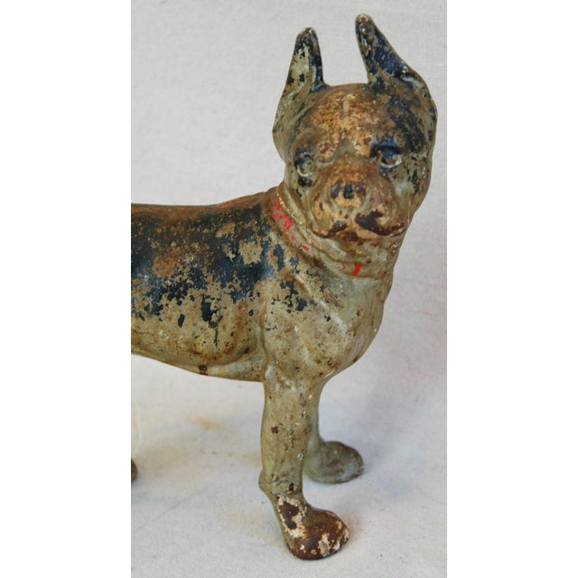 1940s Cast Iron Boston Terrier Dog Doorstop - Image 4 of 9