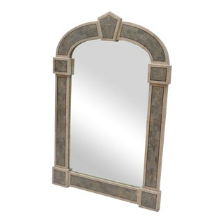 Tessellated Stone over Wood Gothic Shaped Wall Mirror