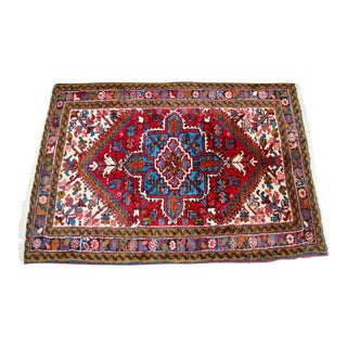Vintage Woven Colorful Rug - 3' x 5'