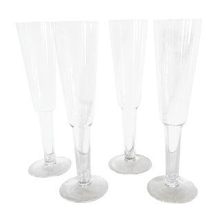 Hollow-Stem Champagne Flutes - Set of 4