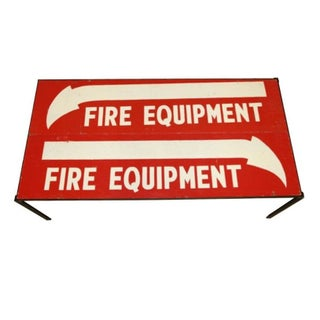 Fire Equipment Sign Cocktail Table