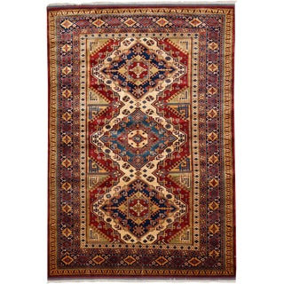 """Traditional Hand Knotted Area Rug - 4'10"""" X 7'2"""""""