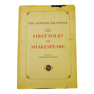 Vintage 1968 The Norton Facsimile The First Folio Of Shakespeare Large Hardcover Coffee Table Book