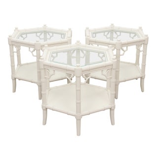 Thomasville Chinoiserie Side Tables - Set of 3