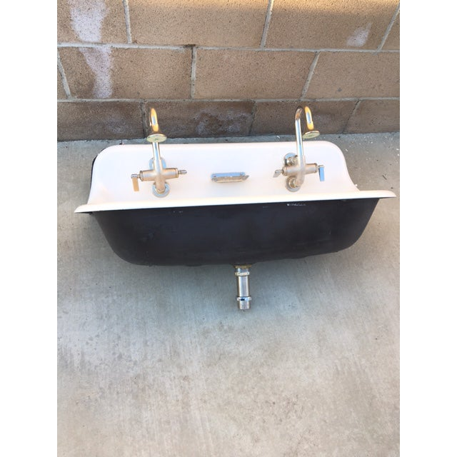 Farmhouse Wash Sink With Cast Iron Wall Mount Chairish