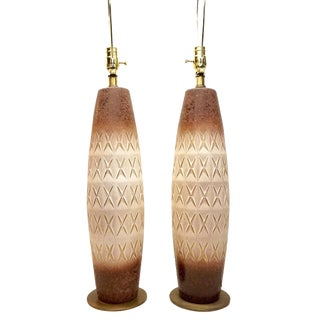 TYE of California Ceramic Lamps - A Pair