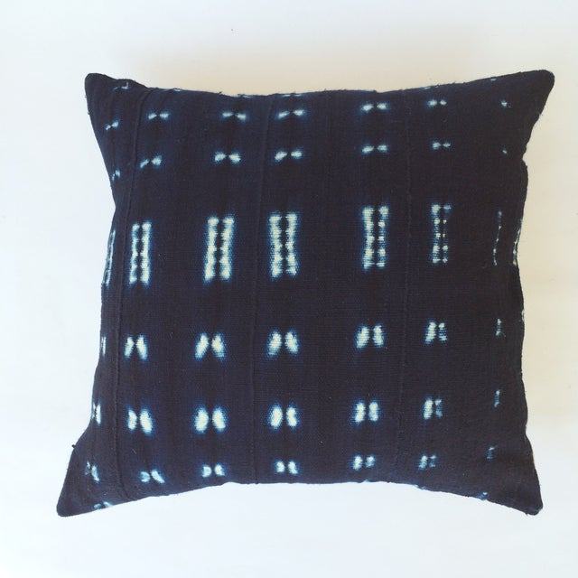Vintage Indigo African Mud Cloth Pillow - Image 2 of 3