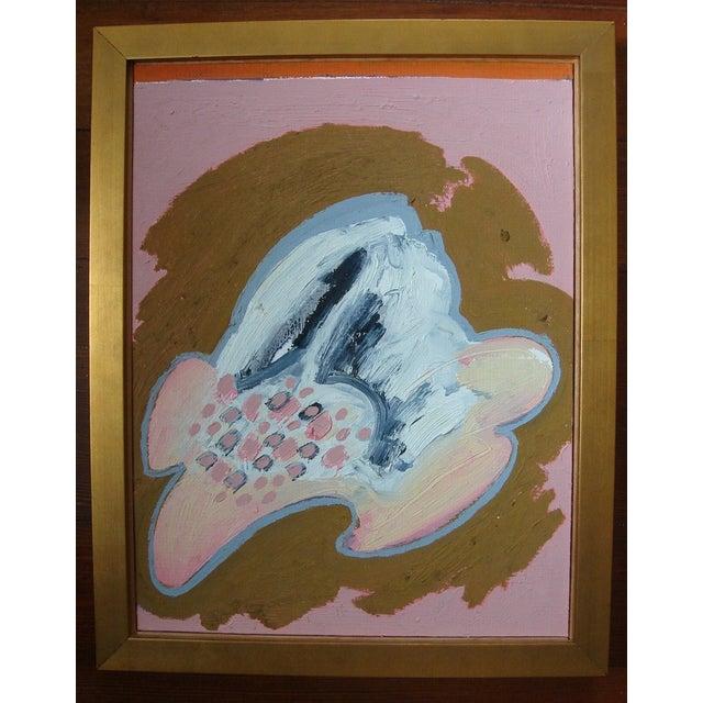 "Jose Ramon Lerma 1977 ""Pink Abstract""Painting - Image 2 of 5"
