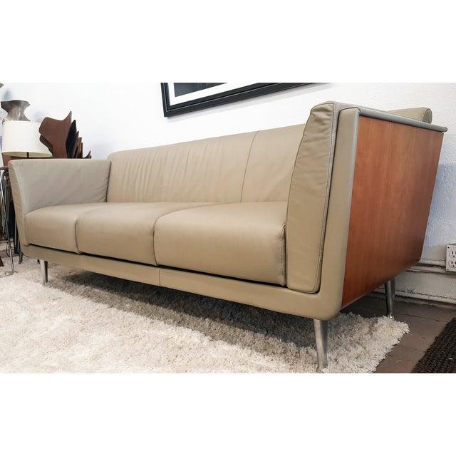 Mark Goetz Sofa For Herman Miller Leather Sofa Chairish