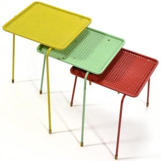 Mathieu Matégot Set of Three Soumba Nesting Table