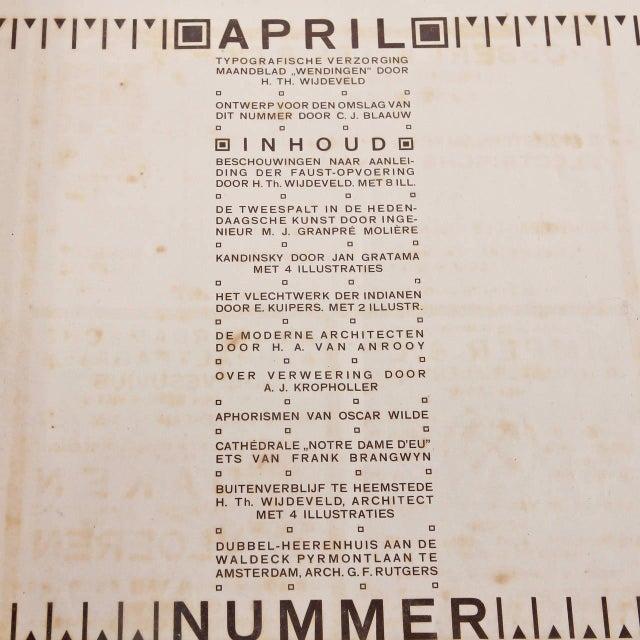 Wendingen, April 1918, Lithograph by C. J. Blaauw - Image 5 of 8