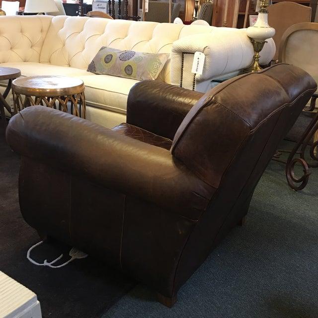 Restoration Hardware Leather Chair: Restoration Hardware Leather French Club Chair