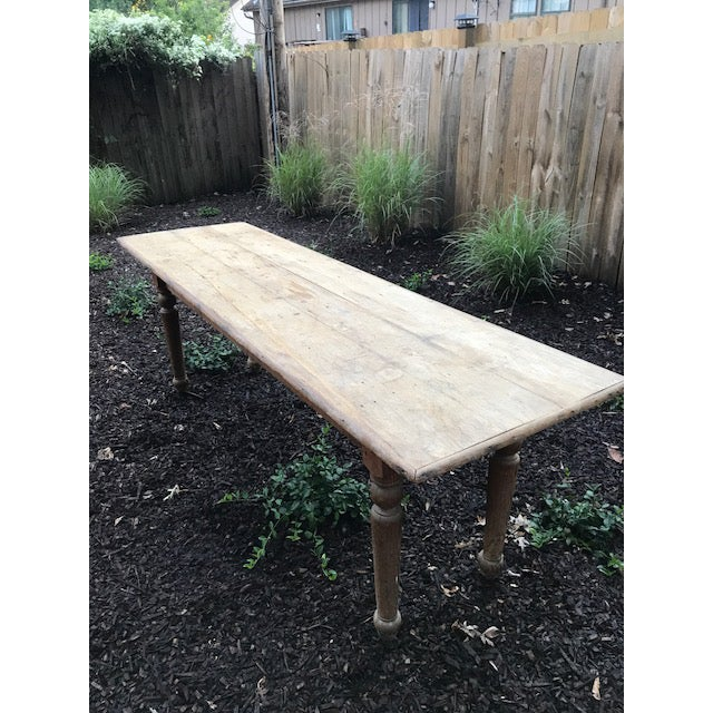 Antique Farmhouse Dining Table - Image 4 of 10