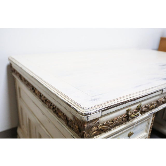Antique White French Desk - Image 5 of 7