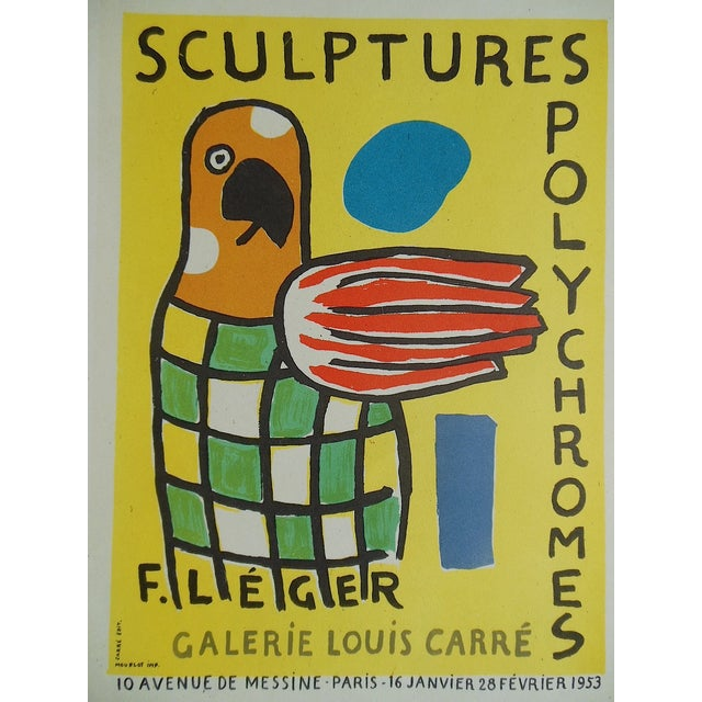1959 Leger Mid 20th C Modern Abstract Lithograph - Image 3 of 3