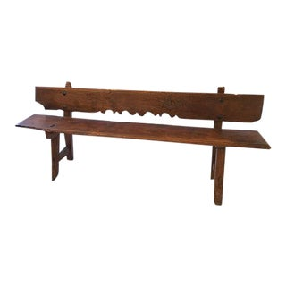 Spanish Carved Wood Bench
