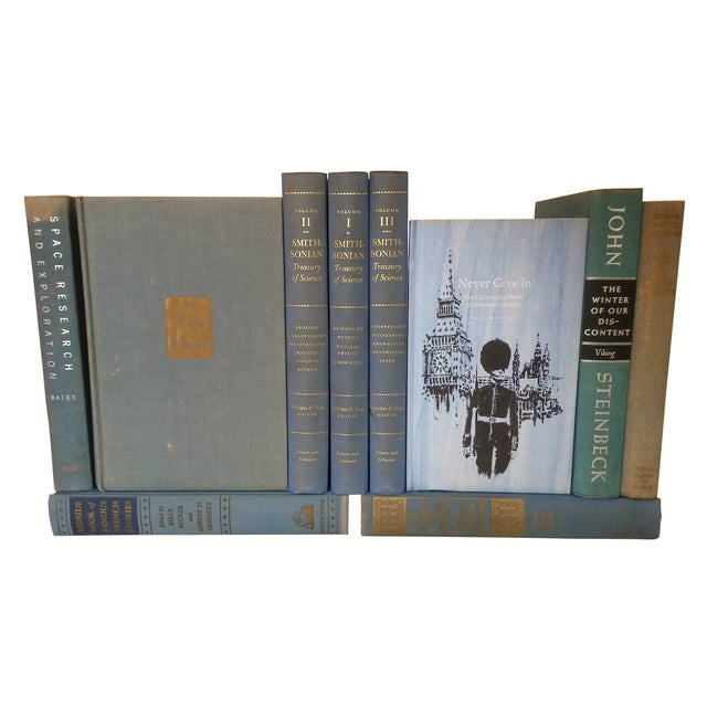 Decorative Blue Books - Set of 10 - Image 3 of 3
