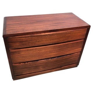 Art Deco Three Drawer Bachelor Chest in Sapele