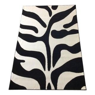"Mid-Century Style Black and White Zebra Rug - 5'3"" X 7'7"""