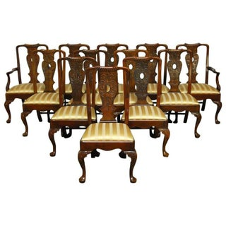 Carved Mahogany Georgian Style Dining Chairs - 12