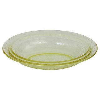 Yellow Depression Glass Bowl