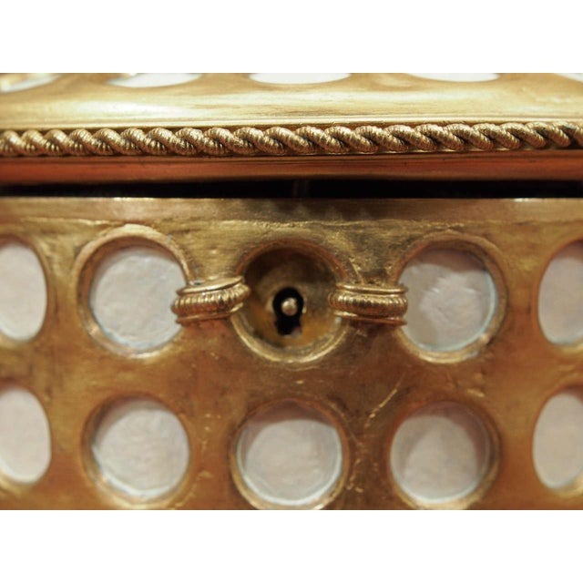 "Charles X Gilt and Mosaic Jewlery Box, Signed ""Tahan, Paris"" - Image 7 of 8"
