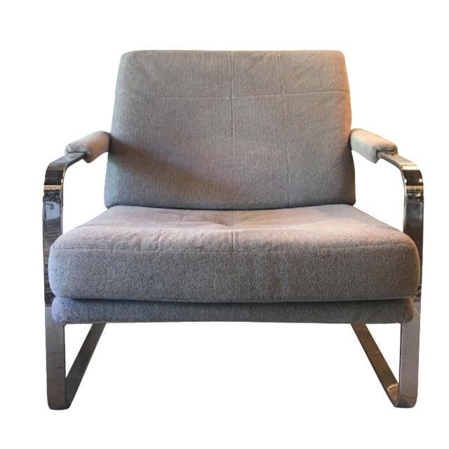 Milo Baughman-Style Chrome Chair - Image 1 of 4