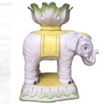 Image of Vintage Italian Elephant Stand with Bowl Top
